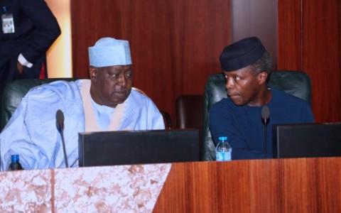 Acting President Yemi Osinbajo and SGF Engr Babachir David Lawal