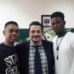 L-R Miyonse, Marketing Director Nigerian Breweries Franco Maria Maggi and Soma