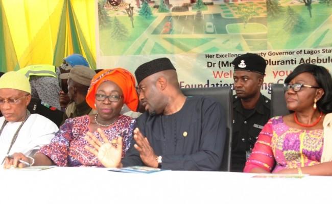 Oba of Igbobi-Sabe, Oba Owolabi Adeyemi Adeniyi; Permanent Secretary, Education District IV, Mrs. Are Adegbite; Representative of Lagos State Governor and Special Adviser on Education, Mr. Obafela Bank-Olemoh and Acting Head of Service, Mrs. Folasade Adesoye