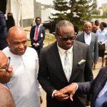 R-L: Lagos State Governor, Mr. Akinwunmi Ambode, with Chairman, Egbin Power Plc., Mr. Kola Adesina; Dircetor, Eko Disco, Mr. Ernest Oji and Chairman, Eko Distribution Company, Mr. Charles Momoh