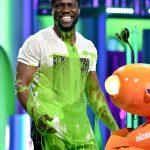 Actor Kevin Hart gets slimed onstage