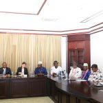 R-L: His Excellency Vice President Prof. Yemi Osinbajo, SAN; Chief Dr. Wellington Okirika; Chief Bubor Fiyewei; Chief (Col) S.A Etoromi (Rtd) and other delegates from Gbaramatu Kingdom and refinery investors