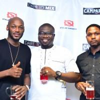 2Baba, MD Abels lounge, Olajide Ayodeji with Campari Brand Ambassador, Rilwan Shofunde
