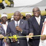 Lagos State Governor, Mr. Akinwunmi Ambode (2nd left); Managing Director, Providus Bank, Mr. Walter Akpani (2nd right); Oba of Lagos, Oba Rilwan Akiolu I (right) and Wife of the Managing Director of Providus Bank, Mrs. Winnie Akpani  (left)