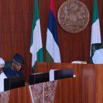 R-L; President Muhammadu Buhari, Vice President Yemi Osinbajo and SGF Engr Babachir David Lawal