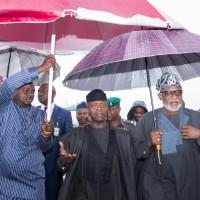 3. Ag President attends Major General Robert Adeyinka Adebayo (rtd), Oba of Iyin Ekiti2