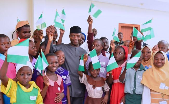 Image result for Children's Day: Osinbajo host 23 Public School students