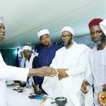 L-R: Lagos State Governor, Mr. Akinwunmi Ambode; Guest Lecturer, Dr. Tajudeen Yusuf; Dr. Lukman AbdulRaheem; Imam Abdullahi Shuaib; Alhaji Shamsideen Li-Ahmed and Sheik Imam Tijani Ismail