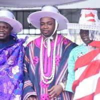 L-R: Lagos State Governor, Mr. Akinwunmi Ambode; Elegushi of Ikateland, Oba Saheed Elegushi, Kusenla III and APC National Leader, Asiwaju Bola Tinubu