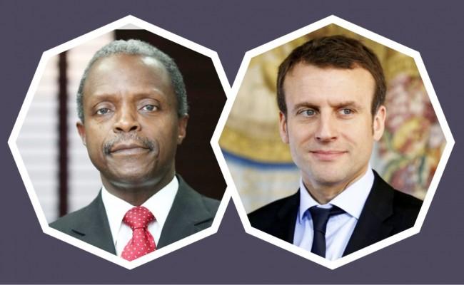 Yemi Osinbajo & Emmanuel Macron