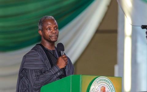 AG PRESIDENT OSINBAJO DEMOCRACY DAY CHURCH SERVICE 1.  Acting President Yemi Osinbajo during the 2017 Democracy day Church service at the Economical Center in Abuja. PHOTO; SUNDAY AGHAEZE. MAY 28 2017