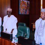 L-R; Zamfara State Governor. Alh Abdulaziz Yari, Deputy Governor Yobe State, Sokoto State Governor, Rt Hon Aminu Tambuwal
