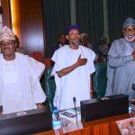 L-R; OYO State Overnor, Senator Abiola Ajumobi, Osun State Governor Ogebni Rafui Aregbesole and Ondo State Governor Rotimi Akeredolu