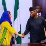 R-L; Acting President Yemi Osinbajo and Malala Yousafzai