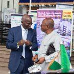 Hon. Minister of Power, Works & Housing, Mr Babatunde Fashola, SAN(left) and former Director General, Bureau of Public Procurement, Engr. Emeka Ezeh(right)