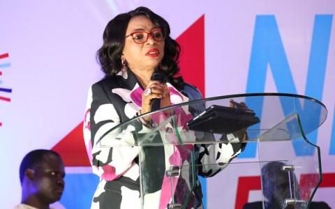 Folorunsho Alakija, Vice Chairman of Famfa Oil delivering her Keynote address