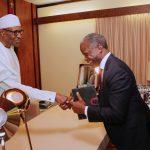 President Muhammadu Buhari receives in Audience Vice President Yemi Osinbajo
