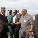 President Muhammadu Buhari, Minister of Interior Lt General Abdurahaman Dambazau, NAS Major General Babagana Monguno and others