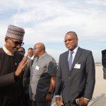 Pesident Muhammadu Buhari, Minister of Foreign Affairs, Mr Geoffrey Oyeama, Minister of Interior Lt General Abdurahaman Dambazau, NAS Major General Babagana Monguno and others