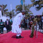 President Muhammadu Buhari paying last respect for the falling heroes