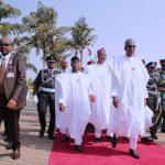 President Muhammadu Buhari, the Vice President Yemi Osinbajo,  President of the Senate Dr Abubakar Bukola Saraki