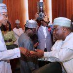 R-L; President, Muhammadu Buhari and Sokoto State Governor, Rt Hon Aminu Tambuwal