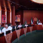 R-L; President Muhammadu Buhari, Vice President Yemi Osinbajo, SGF, Mr. Boss Mustapha, Head of Civil Service of federation, Mrs Winifred Oyo-Ita, NSA Major Gen Babagana Mongonu and others State Governors