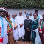 President Muhammadu Buhari in group photo with BSO Members