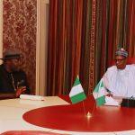 President Muhamadu Buhari Chats with Bayelsa State Governor, Hon. Seriake Dickson