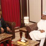 President Muhammadu Buhari receives the High Commissioner of Botswana, Irene Gofaone Rowland