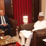 President Muhammadu Buhari receives the The Neterlands Ambassador to Nigeria, Mr Robert J. Petri