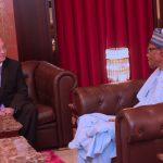 President Muhammadu Buhari chats with the New Ambassador from the Republic of Serbia to Nigeria, Mr Djura Likar