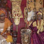 Wife of Ondo state Governor, Chief (Mrs) Betty Anyanwu – Akeredolu (left) and Olowo of Owo, Oba Folagbade Olateru Olagbegi (right)