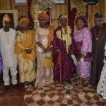 Wife of Ondo state Governor, Chief (Mrs) Betty Anyanwu – Akeredolu (left), Olowo of Owo, Oba Folagbade Olateru Olagbegi (middle) and others