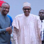 President Muhammadu Buhari with Mr Festus Kayemo SAN