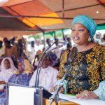 Mrs. Chamah delivering Mrs. Buhari's address