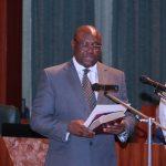 President Muhammadu Buhari swears-in new INEC Commissioner, Barr Festus Okoye representing South East