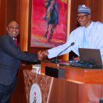 President Muhammadu Buhari swears-in Barr Rommy Mom