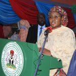 Mrs. Buhari delivering her speech