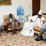 Lagos State Governor, Mr. Akinwunmi Ambode (right), with Oba of Lagos, Oba Rilwan Akiolu I (2nd right); the celebrant, Chief Akintola Williams (2nd left) and Chief Chris Ogunbanjo (left)