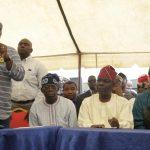 L-R: Lagos State Governor, Mr. Akinwunmi Ambode; National Leader, All Progressives Congress (APC), Asiwaju Bola Ahmed Tinubu; APC Chairman, Lagos State Chapter, Alhaji Tunde Balogun and Party Chieftain, Chief Olorunfunmi Bashorun