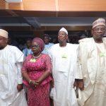 R-L;  Yobe State Governor Giedam, Kano State Governor Kano Abdullahi Ganduje, Lagos State Deputy Gover Mrs. and Kebbi State Governor, Sen Atiku Bagudu