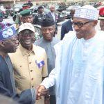 President Muhammadu Buhari, Vice President Yemi Osinbajo, APC National Chairman, Comrade Adams Oshiomhole and APC Leader Senator Ahmed Bola Tinubu