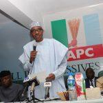 President Muhammadu Buhari addresses the NEC Members