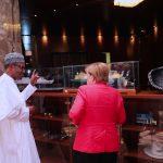 R-L; President Muhammadu Buhari introduce Prototype of Nigeria LGN Train to the German Chancellor H.E Angela Merkel