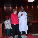 R-L; President Muhammadu Buhari and German Chancellor H.E Angela Merkel