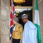 PRESIDENT BUHARI RECEIVES UK PM THERESA MAY . President Muhammadu Buhari receives British Prime  Minister Theresa May at the State House in Abuja. PHOTO; SUNDAY AGHAEZE. AUGUST 29 2018