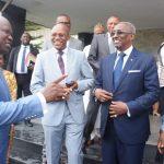 L-R: Lagos State Governor, Mr. Akinwunmi Ambode; with Governing Council members, Mr. Victor Alonge; 1st Vice President, Chief Chris Okunowo and Alhaji Umar Kwairanga