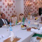 President Muhammadu Buhari receives Prime Minister of Sao Tome and Principe, H.E Patrice Emery Trovoada to a dinner