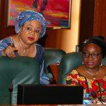 Heads of Civil Service of the Federation, Mrs Winifred Oyo-Ita Confer with the Permananet Secretary Office of the SGF, Ms. Georgina Ehuriah
